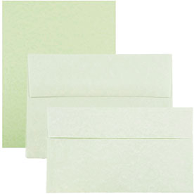 Green Recycled Parchment Envelopes & Paper