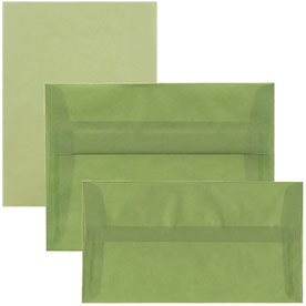 Leaf Green Translucent Envelopes & Paper
