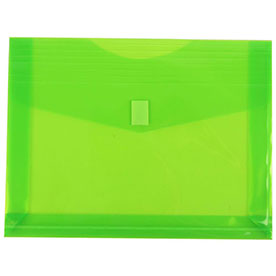 Green Plastic Envelopes with VELCRO® BrandClosure