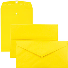 Yellow Recycled Brite Hue Envelopes & Paper