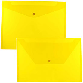 Yellow Plastic Envelopes with Snap Closure