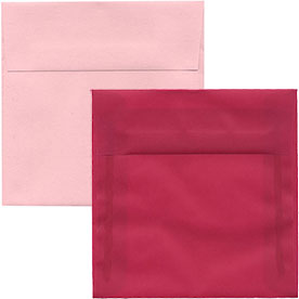 Pink Square Envelopes