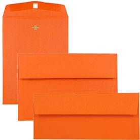 Orange Recycled Brite Hue Envelopes & Paper