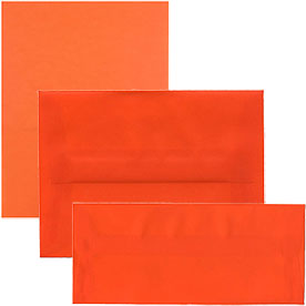 Orange Translucent Envelopes & Paper