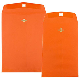 Orange Clasp & Open End Envelopes
