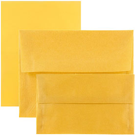 Gold Translucent Envelopes & Paper