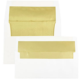 Gold Foil Lined Envelopes