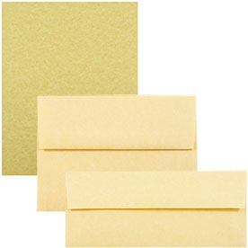 Antique Gold Recycled Parchment Envelopes & Paper