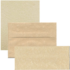 Brown Recycled Parchment Envelopes & Paper