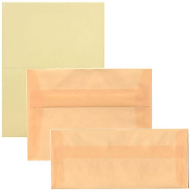 Spring Ochre Translucent Envelopes & Paper