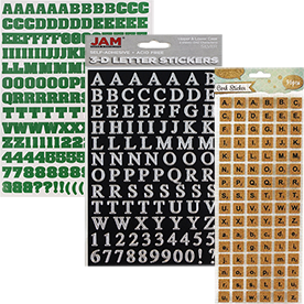 Self Adhesive Letters