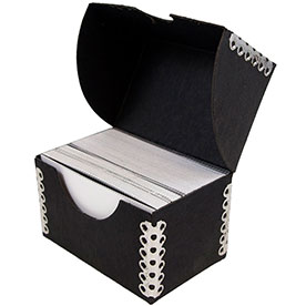 2 1/4 x 3 1/2 x 2 Black Kraft Business Card Box