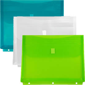 Plastic Binder Envelope with VELCRO® brandClosure