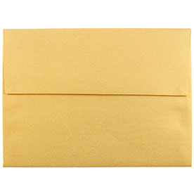 Gold A8 Envelopes - 5 1/2 x 8 1/8