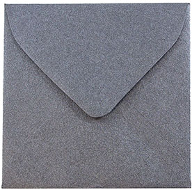 Silver & Grey 3 1/8 x 3 1/8 Square Envelopes