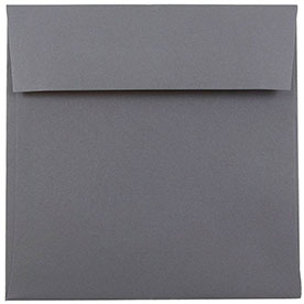 Silver & Grey 6 x 6 Square Envelopes
