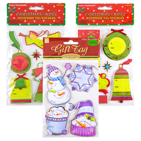 Handmade Holiday Gift Tag Stickers