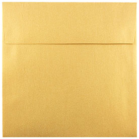 Gold 8 1/2 x 8 1/2 Square Envelopes