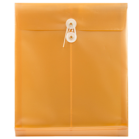 Gold Letter Open End Plastic Envelopes-9.75x11.75