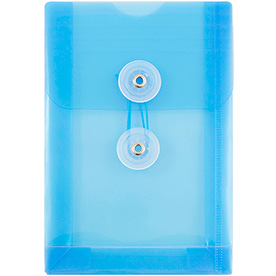 Blue A6 Plastic Envelopes - 4 1/4 x 6 1/4