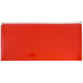 Red #10 Business Plastic Envelopes - 5 1/4 x 10