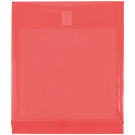 Red Letter Open End Plastic Envelopes- 9.75x11.75