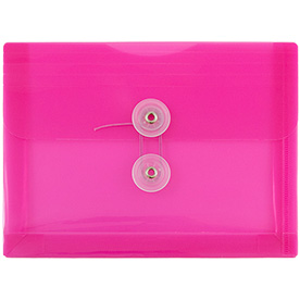 Pink Index Plastic Envelopes - 5 1/2 x 7 1/2