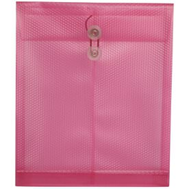 Pink Letter Open End Plastic Envelopes-9.75x11.75