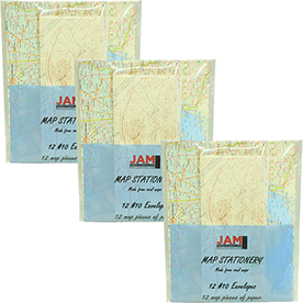Map Stationery Sets