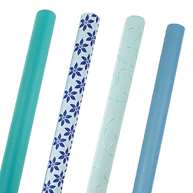Blue Wrapping Paper Rolls