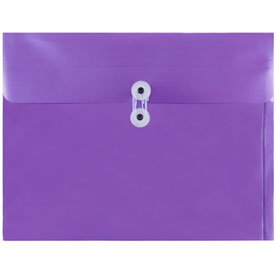 Purple Letter Booklet Plastic Envelopes - 9.75x13