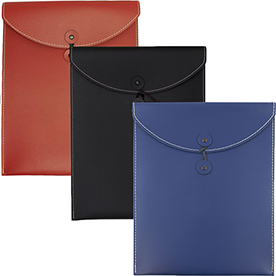 Leather Portfolios with String Tie