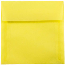 Yellow 6 x 6 Square Envelopes