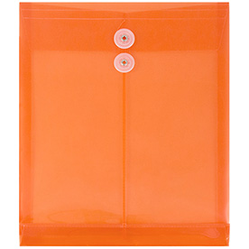 Orange Letter Open End Plastic Envelopes-9.7x11.7