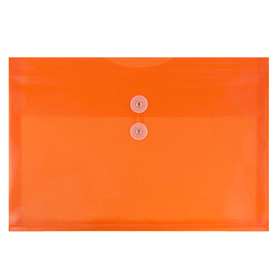 Orange Letter Booklet Plastic Envelopes -9.75x13