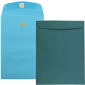 Blue Clasp & Open End Envelopes