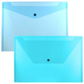 Blue Plastic Envelopes with Snap Closure