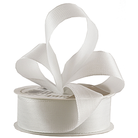 White Woven Edge Ribbon