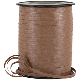 Brown Curling Ribbon