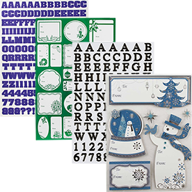 Letters & Shapes Stickers