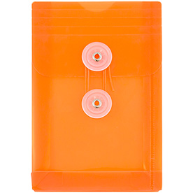 Orange A6 Plastic Envelopes - 4 1/4 x 6 1/4