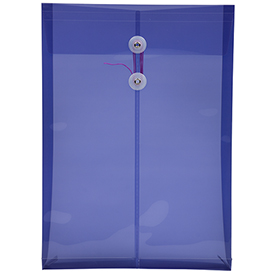 Purple Legal Plastic Envelopes - 9.75x14