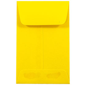 Yellow #1 Coin Envelopes - 2 1/4 x 3 1/2