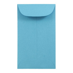 Blue #3 Coin Envelopes - 2 1/2 x 4 1/4