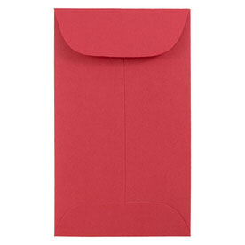 Red #3 Coin Envelopes - 2 1/2 x 4 1/4