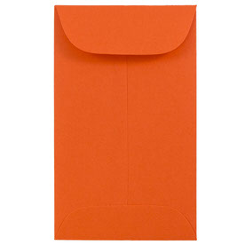Orange #3 Coin Envelopes - 2 1/2 x 4 1/4