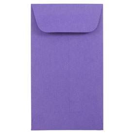 Purple #5 1/2 Coin Envelopes - 3 1/8 x 5 1/2