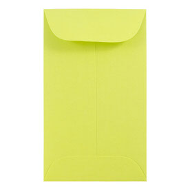 Green #6 Coin Envelopes - 3 3/8 x 6
