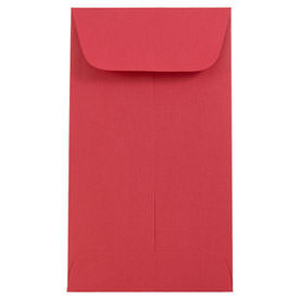 Red #6 Coin Envelopes - 3 3/8 x 6