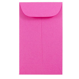 Pink #6 Coin Envelopes - 3 3/8 x 6